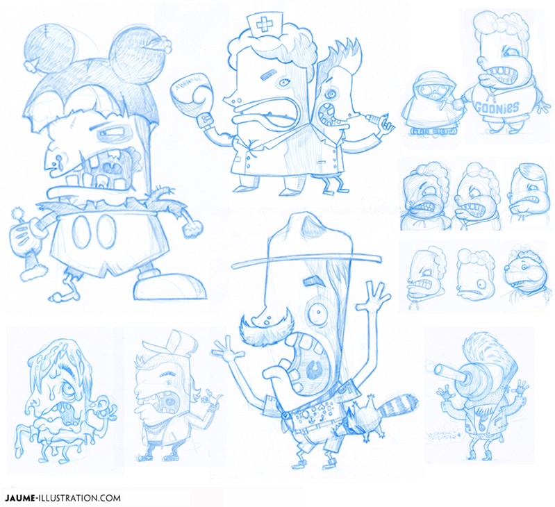 illustration rich media traditional media pencil games